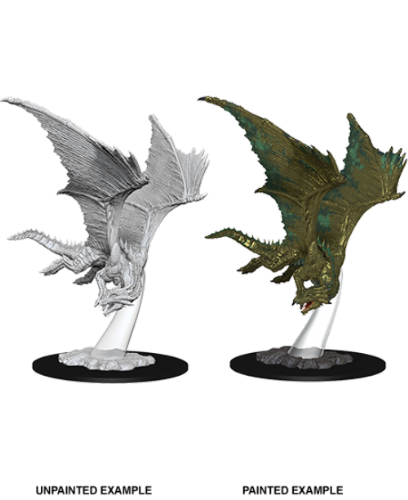 Young Bronze Dragon: D&D Nolzur's Marvelous Miniatures